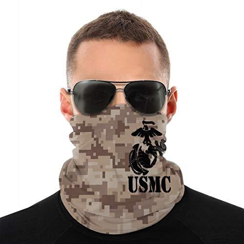 USMC Army Pattern Seamless Bandana Neck Gaiter Mask Breathable Balaclava Sports & Casual Headwear Cycling Running Hiking Headband for Women and Men