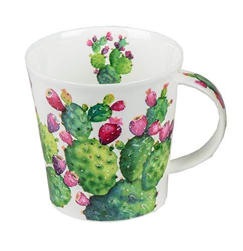 DUNOON CA-CACT-SI Becher Cacti Single mit Abbildungen von Kakteen - Tassenform Cairngorm