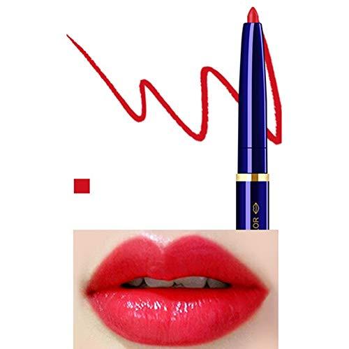 Yiwa Double Tête Cosmétique Professionnel Lipliner Imperméable Dame Charme Lèvres Lèvres Doux Crayon Contour Rouge À Lèvres 09#