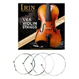 IRIN V68 Professional Violine Saiten (E-A-D-G) Nickel Silber umsponnen für 4/4 3/4 1/2 1/4 Geige