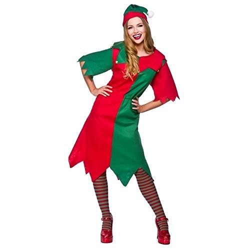 Kerstmis Elf Kerstman Kleine Helper UK 14-24 Dames Fancy Jurk Kerstmis Kostuum Nieuwe