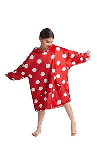 Manta Sudadera con Capucha, Impresión 3D Super Soft Warm Home Sweatshirt, TV Hoodie,Rojo,One