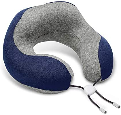 Phixnozar Travel Pillow 100 Memory Foam Neck Pillow Ideal for Airplane Travel Comfortable and product image