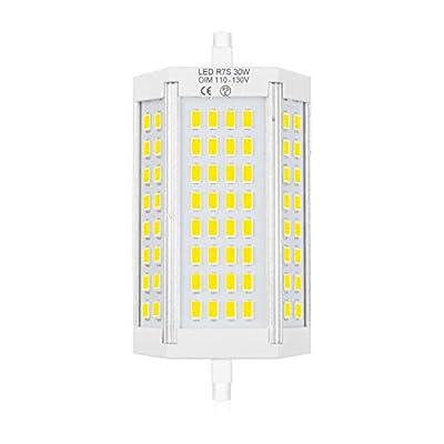 Bonlux Dimmable R7S LED Light Bulb 118mm, 30W J Type R7S LED Floodlight J118 Double Ended LED Bulb Daylight 6000K, 200W Halogen Bulb Replacement R7S LED Floor Lamp, Work Light