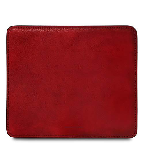 Tuscany Leather Tapis de Souris en Cuir Rouge