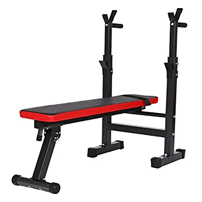 campaig sport Weight Bench Adjustable Folding Shoulder Folding Home Heavy Duty Multiuse Barbell Flat Exercise Gym by campaig sport