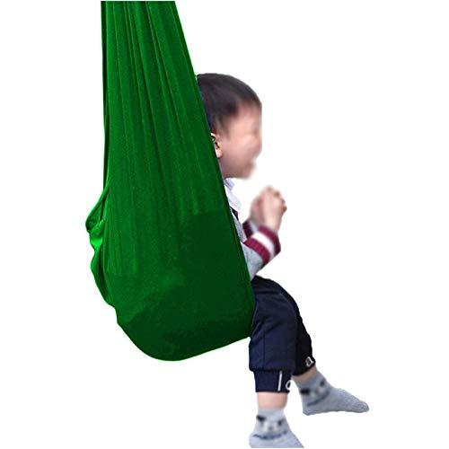 WCX Columpio Terapia Interior Ajustable For Niños Y Adolescentes Necesidades Especiales Silla Hamaca Abrazar Autismo TDAH Aspergers (Color : Green, Size : 150x280cm)