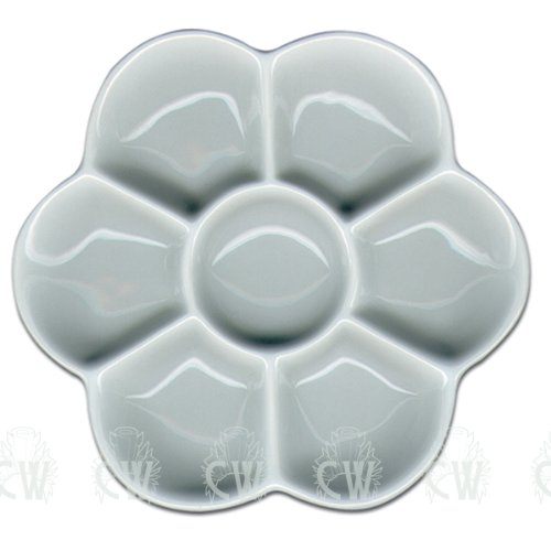 Curtisward - Paleta clásica para artistas, de porcelana con forma de margarita