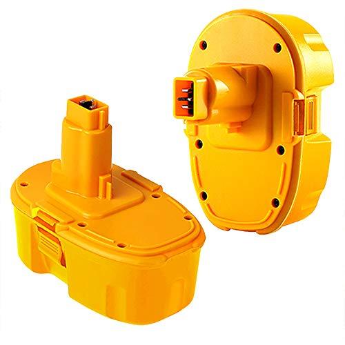 2Pack 4.0Ah 18V Ni-MH DC9098 Replacement Battery for Dewalt 18 Volt Battery DC9096 DC9099 DW9099 DW9096 DW9098 DC9181 Cordless Power Tools