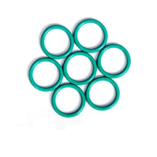 Ochoos 5PCS 2.4mm Wire Diameter 45mm-75mm outsied Diameter Fluoride Seal O-Rings FKM O-Ring Sealing Ring Washer high Temperature Green - (Inner Diameter: 57mm OD)