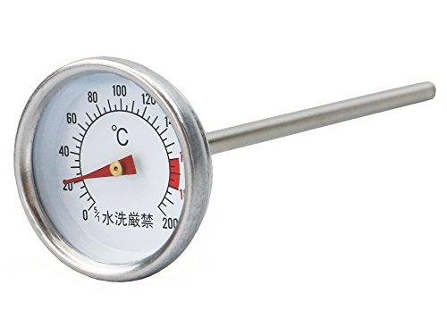 キャプテンスタッグ(CAPTAIN STAG) バーベキュー BBQ用 燻製器 スモーカー用温度計 スモーク対応M-9499