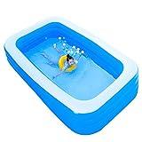 スイムセンターファミリープール 子供用の小さなインフレータブルプール、バッテリー式ポンプ付き、家族向けの屋外サマーパーティースイミングプール、4人収容 (Color : 210x135x60cm/83x53×24 inch)