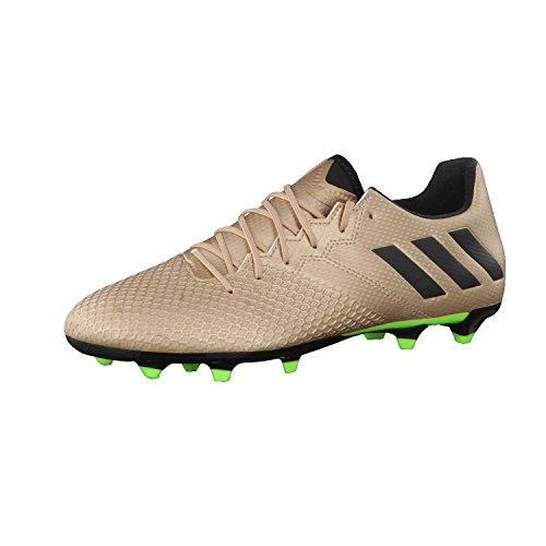Adidas Messi 16.3 FG, Botas de fútbol Hombre, Dorado (Dorado/(Cobmet/Negbas/Versol) 000), 44 EU