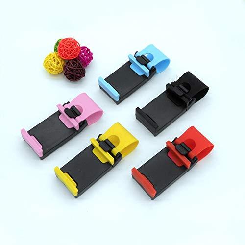 HFLON Universal Autotelefonhalter Auto Lenkung Radhalterung Schnallenbuchse Handyhalter Auto Lenker Clip GPS StänderSchwarz