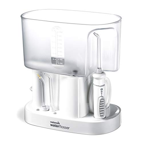 Waterpik Classic Professional Water Flosser, White Satin Base with Crystal Clear Reservoirs