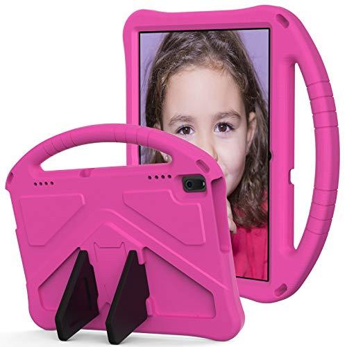 Funda para niños Lenovo Tab E10 TB-X104F, para Lenovo Tab 4 10 TB-X304F/N, para Tab 4 10 Plus TB-X704F/N/L/V, para niños Eva a prueba de golpes, ligera, a prueba de caídas (color: rojo rosa)