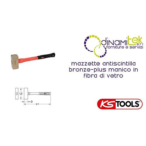 KS Tools 963.2061 BRONZEplus vuistje 1000 g, met glasvezel steel