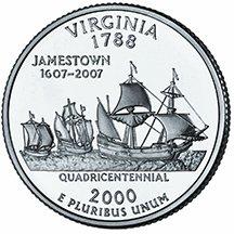 2000 P Virginia State Quarter Choice Uncirculated