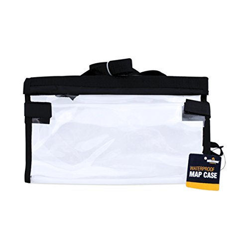 Milestone Camping Men's 21040 Foldable Waterproof Map Case with Handle, Transparent, 30x30cm