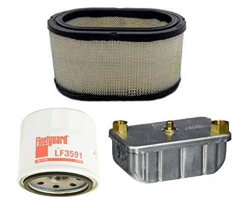 Filters Kit Fleetguard (AF27906, LF3591, FF236) For Cummins Onan Quiet Diesel 6000 7500 8000 Auxiliary Power Unit Generator. Replaces Cummins Onan (1402897, 1220833, 1492513)