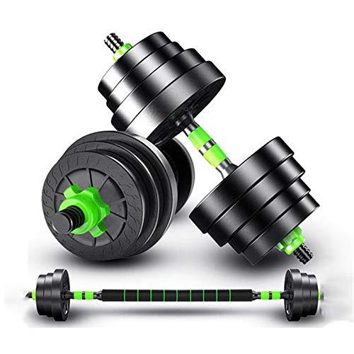 Een paar halters, 5 kg verstelbaar gewicht, Silent Wheel Dumbbell, met connector, voor sportkrachttraining, Fitness Gym Aerobic