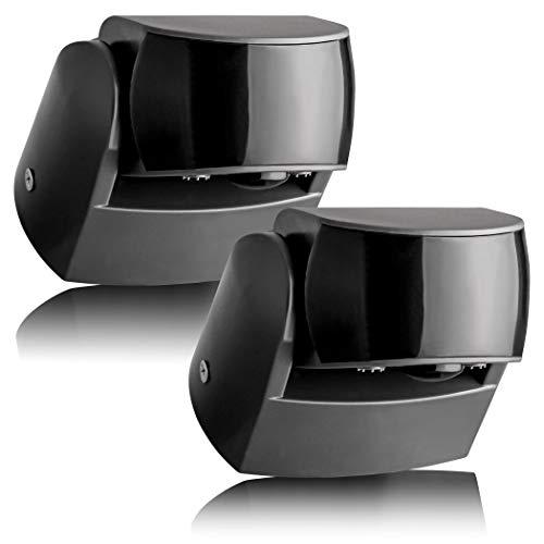 SEBSON® Bewegungsmelder Aussen - 2er Set - IP65 Aufputz, LED geeignet, programmierbar, Infrarot Sensor 12m / 180° - 3m / 360° (2 Sensoren), Wand Montage schwenkbar, 3-Draht
