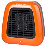 Brightown Personal Ceramic Portable Heater-Mini Space Heater with Overheat Protection for Office Desktop Indoor Use, 400-Watt ETL Listed for Safe Use, Orange