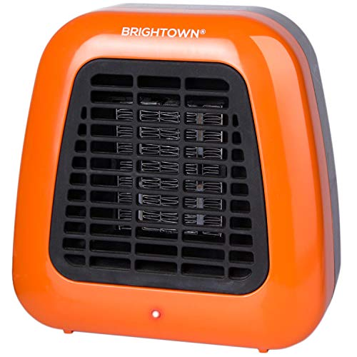 Brightown Personal Ceramic Portable Heater-Mini Space Heater with Overheat Protection for Office Desktop Indoor Use, 400-Watt ETL Listed for Safe Use, Orange heaters Propane Space