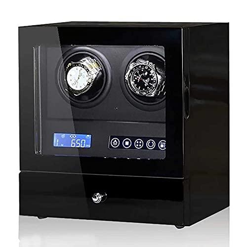 Adesign 4 Watch Winder con 5 Relojes de Almacenamiento, Pantalla LCD, Control táctil y luz de Fondo Interior
