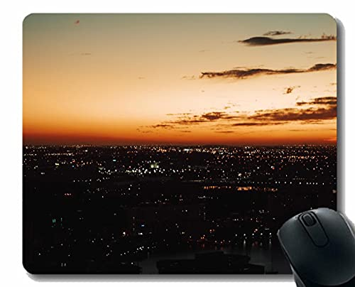 Personalizado su Juego Mousepad, Edificios de la Ciudad Vista aérea de Goma Antideslizante Mousepad A111