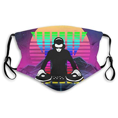 Multifunktionales Halfichtstuch für Damen und Herren, wiederverwendbar, DJ, Rock, Disco, Musik, 3D-Druck, atmungsaktiv, Staubgesichtsabdeckung