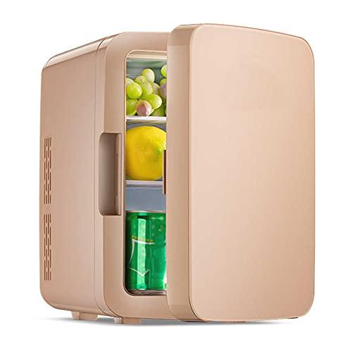 Refrigerador para automóvil, enfriador y calentador Refrigerador compacto con alimentación de CA / CC, mini refrigerador de 10L Refrigerador compacto para acampar, viajar, pescar, refrigerador al ai