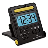 Marathon Basics Travel Alarm Clock, Easy to use, Easy to Set, Perfect for...