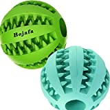 Bojafa Best Dog Teething Toys Ball Nontoxic Durable Dog IQ Puzzle Chew Toys for Puppy Small Large Dog Teeth Cleaning/Chewing/Playing/Treat Dispensing Dog Toys (2 Pack)