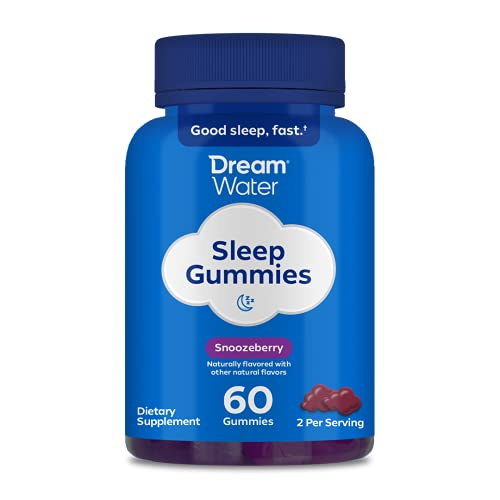 Dream Water Sleep Gummies; GABA, MELATONIN, 5-HTP; Snoozeberry, 60...