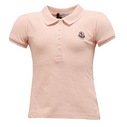 MONCLER 4361T Polo Bimba Maglia Rosa Antico Cotone t-Shirt Polo Kid
