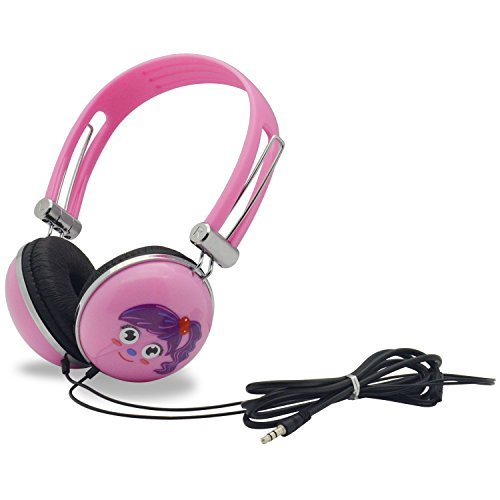 WONNIE Headset for Portable DVD Player, PC, Mobile Phone, Cartoon Headphone (Pink)