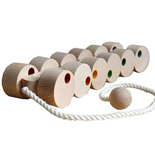 自然に触れて遊ぶ グッドトイ選定商品 銀河工房 木のおもちゃ 十二輪車(ロングタイプ)