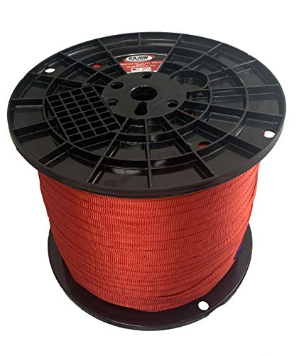 Cajun Pull Line - 3/4 Inch Red - 2,000 lb. - Pull Tape - Polyester Pulling Tape - Made in USA… (3,000 Feet)