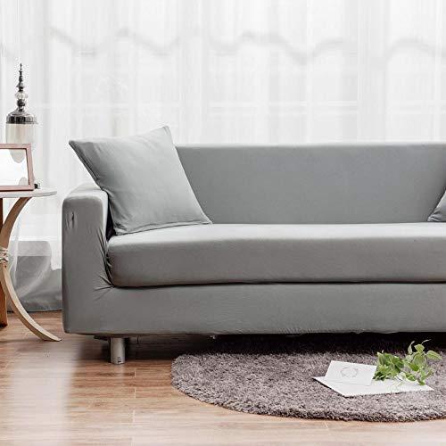 Topashe Funda sofá Duplex,Funda de sofá Universal, Funda de sofá elástica-Gris Claro_90-140cm,elástico Tejido Protector por sofá Funda
