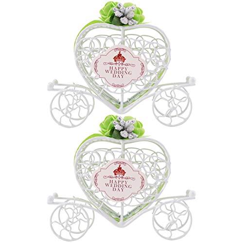 KESYOO 2 pcs caixas de doces de transporte de amor de ferro caixa de presente de casamento recipiente de chocolate romântico suprimentos para festas (verde)