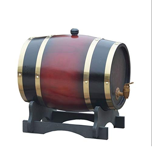 Barriles de Roble de Whisky, 1.5L / 3L / 5L / 10L Cubo de Roble con Almohadilla Interna de Papel de Aluminio incorporada para elaborar Cerveza o almacenar Cerveza Brandy Tequila