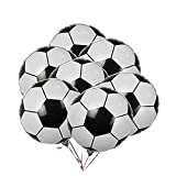 10Pcs Soccer Balloons Football Aluminum Foil Metallic Mylar Balloon Decoration for Birthday Party World Cup Party 18 Inch