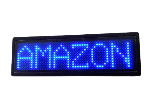 Programmable Scrolling SMD Dot Matrix LED Name Badge (12x48 pixels) Blue