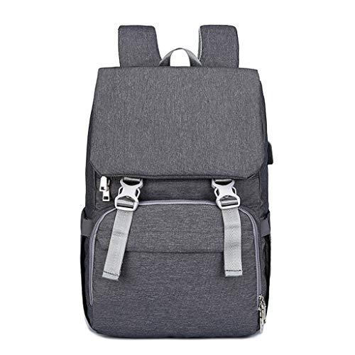 Sac à Langer Sac à Dos Nappy Bag Sacs pour bébé pour Maman Maternity Sac à Langer avec Port de Chargement USB Bretelles de Poche pour Bretelles Thermiques   Bandoulières Larges   Résistant à l'eau