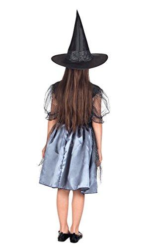 Boland- Costume Bambina Streghetta Spider Witch, Nero, 7-9 anni, 78019