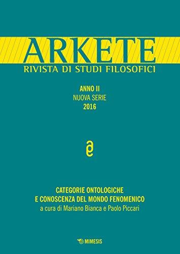 Arkete. Rivista di studi filosofici (2016)