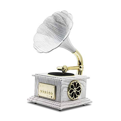 YXYH Vintage Gramophone with Brass Horn Reproduction RCA Victor Record Player Loudspeaker, Turntable Phonograph (Color : C)