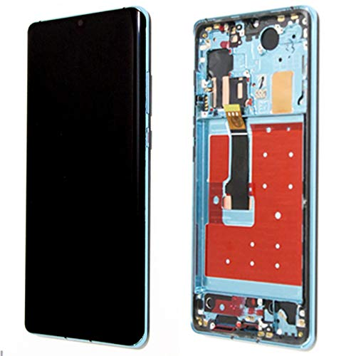 LQIAN 6.47'Pantalla De Reemplazo De Pantalla Fit For Huawei P30 Pro LCD Pantalla Táctil Vog-L29 Vog-L09 Vog-L04 Pantalla Digitalizador de la Pantalla táctil (Color : Aurora Blue Frame)