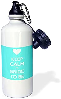 Sports Water Bottle Gift, Keep Calm Im Bride To Be Aqua White Stainless Steel Water Bottle for Women Men 21oz